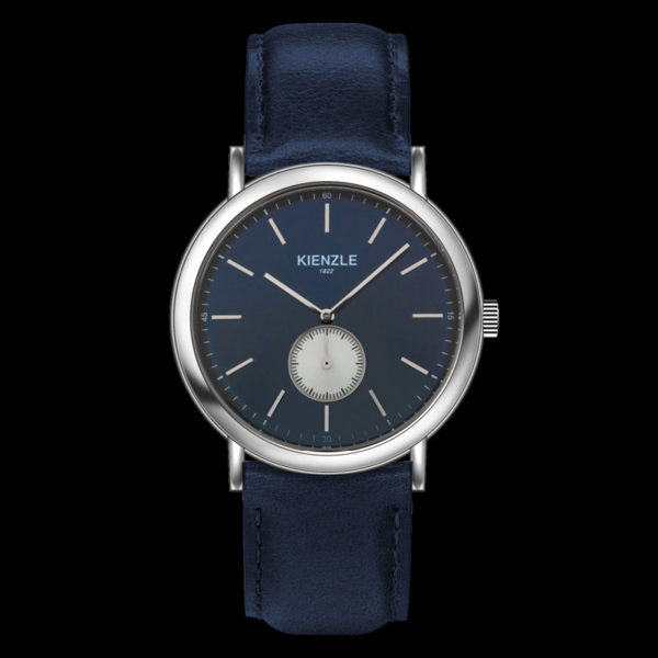 kg-415-d orologio piccoli secondi pelle blu